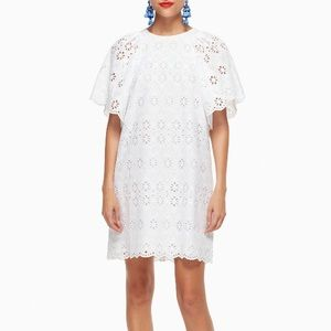 Kate Spade White Dress KS Eyelet Shift Dress